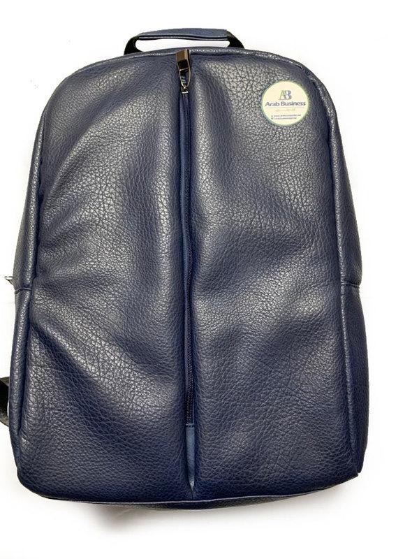 Leather Backpack bag color Blue