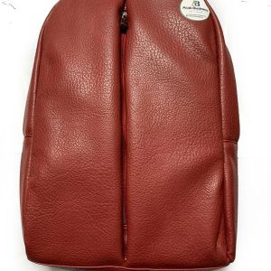 Leather Backpack bag color red