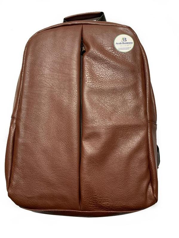 Leather Backpack bag color brown