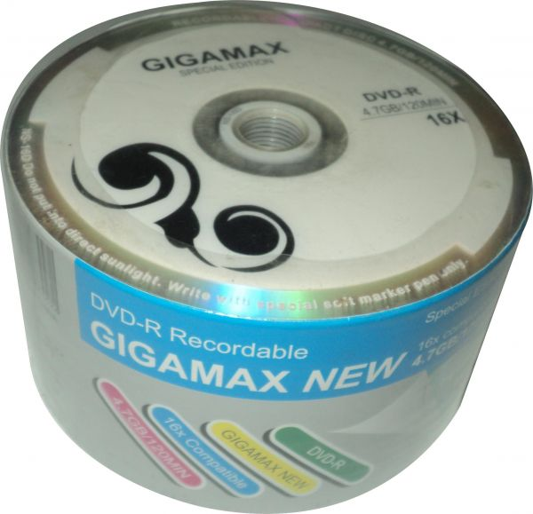 DVD Blank Gigamax 4.7