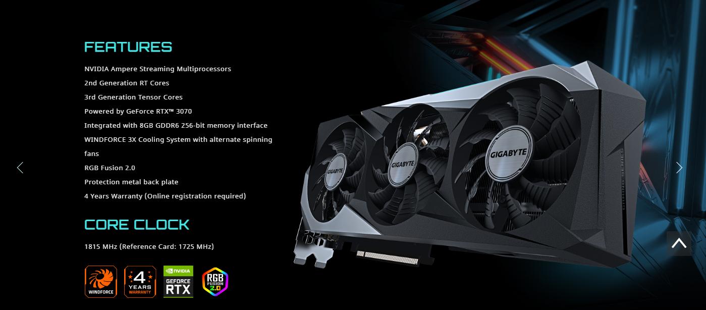 GeForce RTX 3070 GAMING