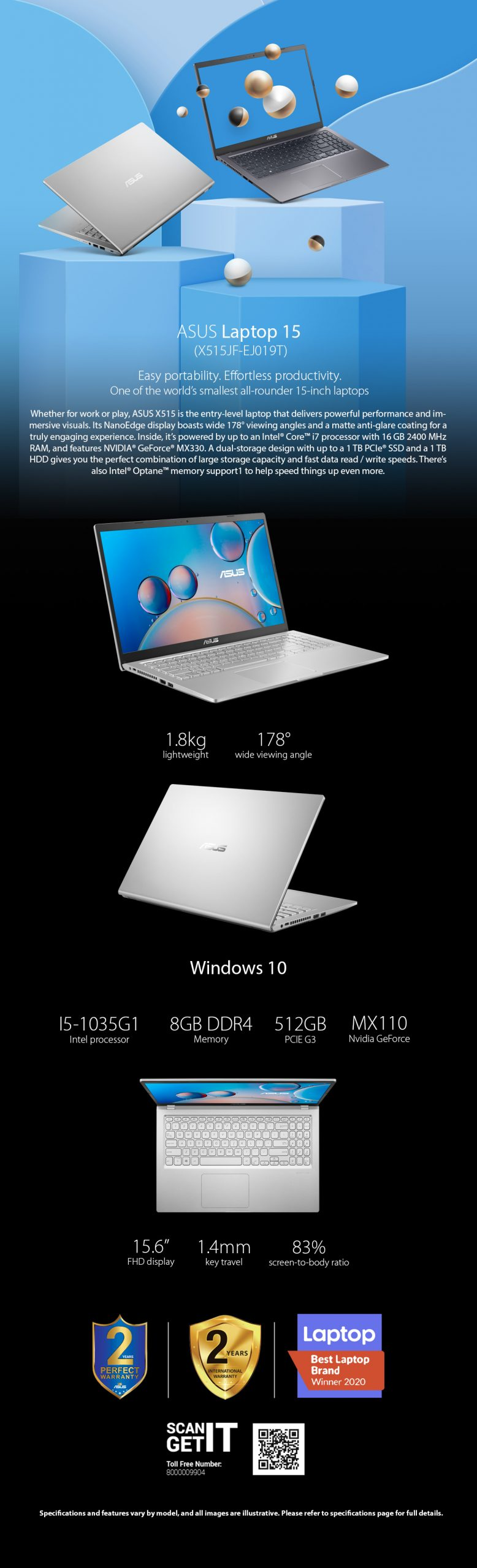 Asus Laptop X515JF-EJ019T